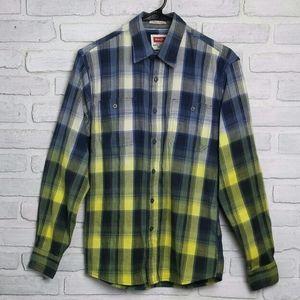 💥SALE Wrangler Custom Dyed Plaid Button Shirt